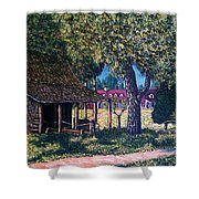 Old Plantation Tool House Shower Curtain