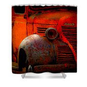 Old Plymouth Red Shower Curtain