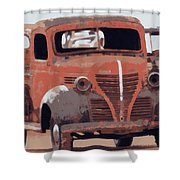 Old Plymouth Trucks Shower Curtain