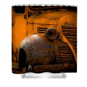 Old Plymouth Yellow Shower Curtain