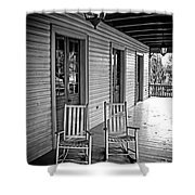 Old Porch Rockers Shower Curtain