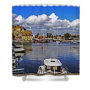 Old Port Holiday Shower Curtain