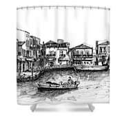 Old Port- Rethymno Shower Curtain