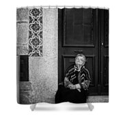 Old Portuguese Woman Shower Curtain
