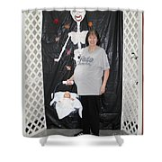 Old Pregnant Lady With A Baby Shower Curtain