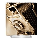 Old Press Camera Shower Curtain by Edward Fielding