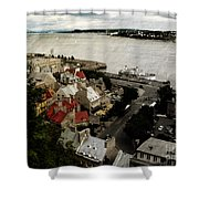 Old Quebec City By St.lawrence Shower Curtain