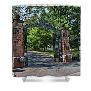 Old Queens Entrance Gate Shower Curtain