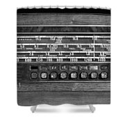 Old Radio Change The Station Shower Curtain