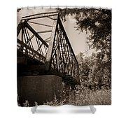Old Rail Bridge Shower Curtain