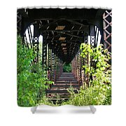 Old Railroad Car Bridge Shower Curtain