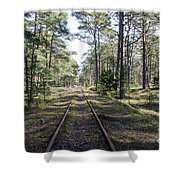 Old Railroad Tracks Shower Curtain