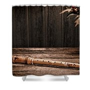 Old Recorder Shower Curtain