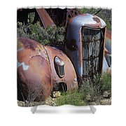 Old Red Car Shower Curtain