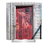 Old Red Door Shower Curtain