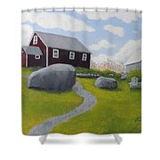 Old Red Schoolhouse Shower Curtain