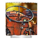 Old Red Tractor Ford 9 N Shower Curtain