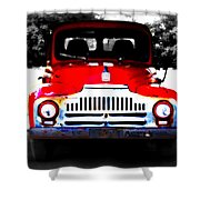 Old Red Truck Shower Curtain