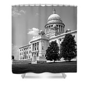 Old Rhode Island State House Bw Shower Curtain