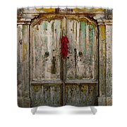 Old Ristra Door Shower Curtain by Kurt Van Wagner