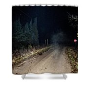 Old Road Night Fog Shower Curtain