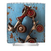 Old Roller Skates Shower Curtain