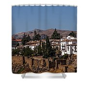Old Ronda Panoramic. Andalusia. Spain Shower Curtain