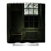 Old Room - Abandoned Asylum - The Presence Outside Shower Curtain by Gary Heller