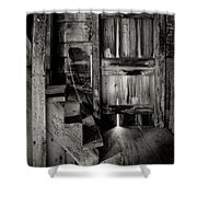 Old Room - Rustic - Inside The Windmill Shower Curtain by Gary Heller