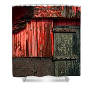 Old Rr Snow Plow  Shower Curtain