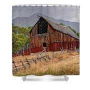 Old Rural Barn In Thunderstorm - Utah Shower Curtain