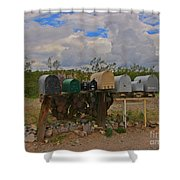 Old Rural Route Shower Curtain