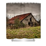 Old Rustic Barn Shower Curtain