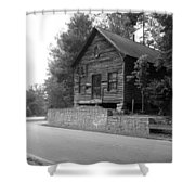 Old Rustic Cabin Shower Curtain