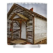 Old Rustic Rural Country Farm House Shower Curtain