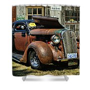 Old Rusty Car At The Old Shop  Ca5083a-14 Shower Curtain