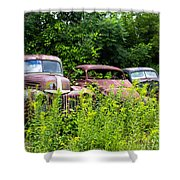 Old Rusty Cars Shower Curtain
