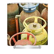 Colorful Fire Extinguishers Shower Curtain