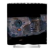 Old Rusty Junk Car In Vivid Colors Shower Curtain by Gunter Nezhoda