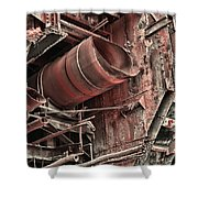 Old Rusty Pipes Shower Curtain
