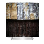 Old Rusty Tin Roof Barn Shower Curtain