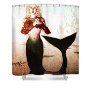 Old Sailors Dream - The Mermaid Shower Curtain