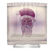 Old Saint Nicholas Greeting Card Shower Curtain
