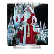 Old Saint Nick Walt Disney World Digital Art 02 Shower Curtain