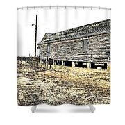 Old Salted Building Shower Curtain
