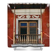 Old San Juan Balcony Shower Curtain