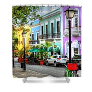 Old San Juan Street Shower Curtain
