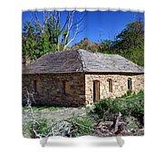 Old Sandstone Brick Farm House Nine Mile Canyon - Utah Shower Curtain