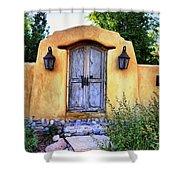 Old Santa Fe Gate Shower Curtain