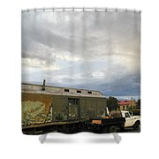 Old Santa Fe Railyard Shower Curtain